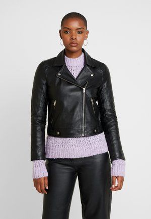 SLFKATIE JACKET - Leather jacket - black