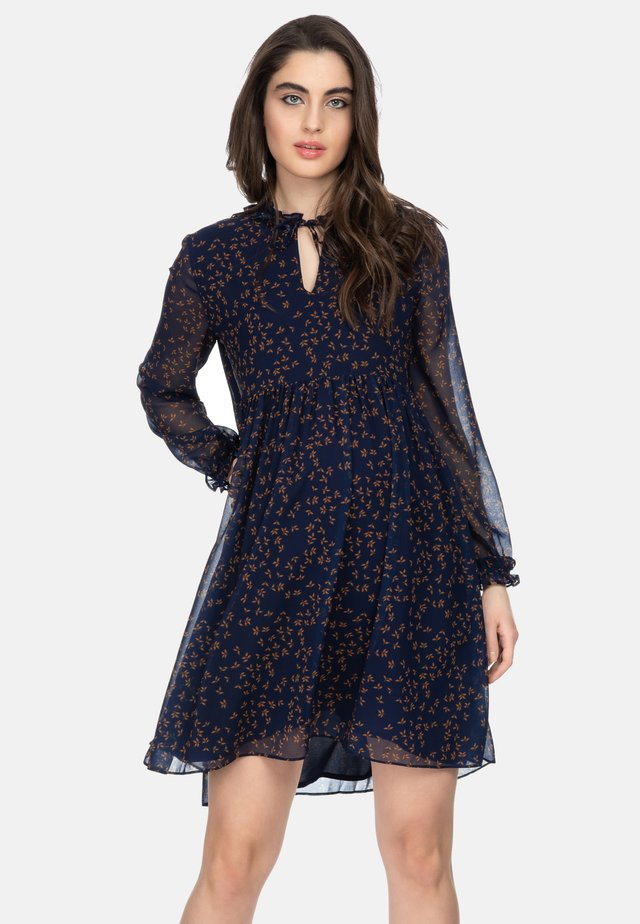 MATILDE - Day dress - blue leavesfall