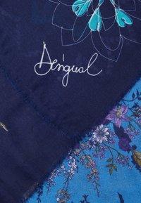 Desigual - FOUL FLOWER PATCH - Halsduk - medieval blue - 2