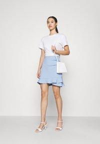 Forever New - LUCY FRILL SKIRT - Mini skirt - placid sky - 1
