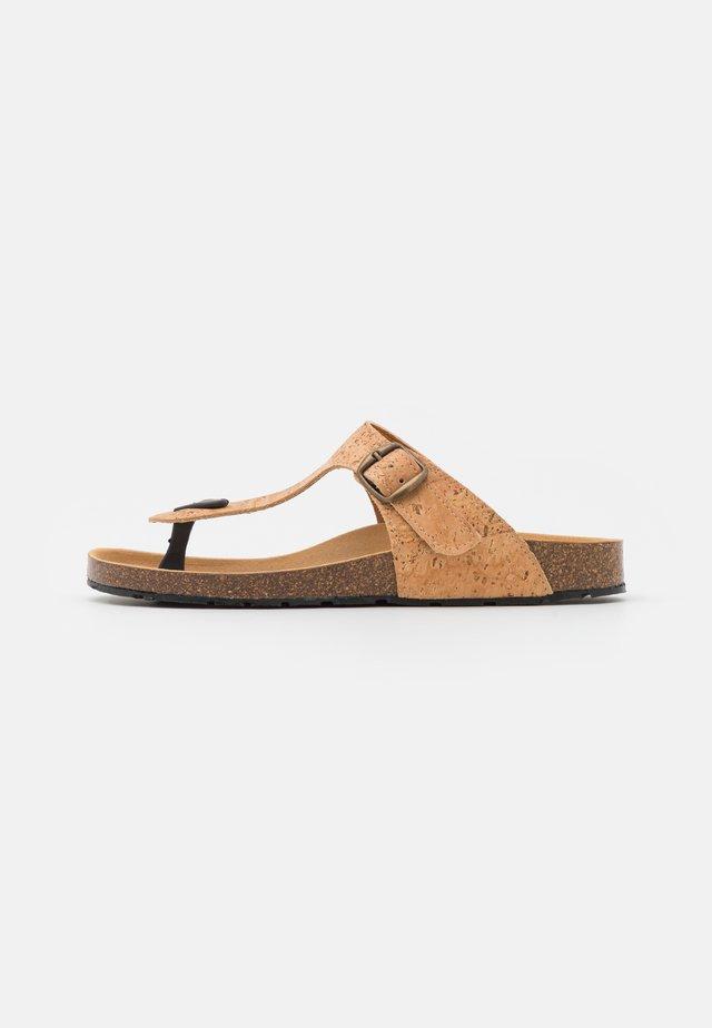 KOS VEGAN  - T-bar sandals - brown