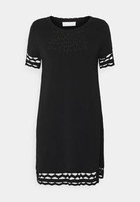 TWINSET - SANGALLO - Strikket kjole - nero - 5