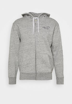 TECH LOGO TONAL  - veste en sweat zippée - grey