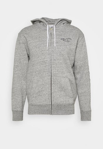 TECH LOGO TONAL  - veste en sweat zippée - grey
