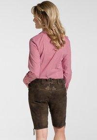 Spieth & Wensky - OXANA - Leather trousers - dark brown - 1