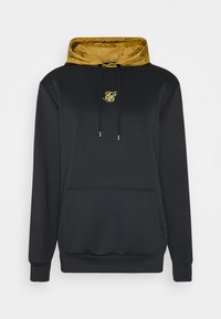 SIKSILK - PANEL TAPE OVERHEAD HOODIE - Jersey con capucha - black/gold - 3