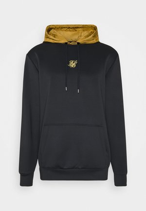 PANEL TAPE OVERHEAD HOODIE - Bluza z kapturem - black/gold