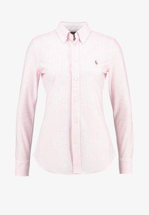 HEIDI - Button-down blouse - carmel pink/white
