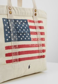 Polo Ralph Lauren - FLAG TOTE - Shopping Bag - ecru - 6