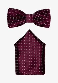 Only & Sons - ONSTBOX THEO TIE SET - Kapesník do obleku - cabernet/white