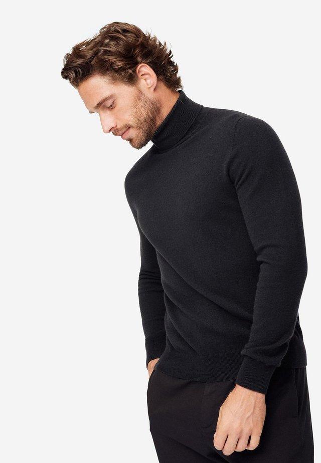 ROLLKRAGEN-PULLOVER AUS ULTRASOFT CASHMERE - Sweatshirt - black