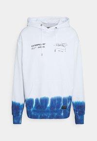 Caterpillar - ENGINE HOODIE - Sweatshirt - white/blue - 0