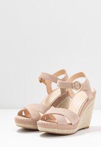 Anna Field - LEATHER - Sandaler med høye hæler - nude - 4