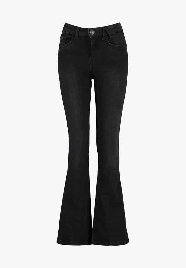 EMILY FLAR JR - Flared Jeans - washed black