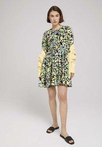 TOM TAILOR DENIM - LIGHT MINI DRESS - Day dress - multi-coloured - 1