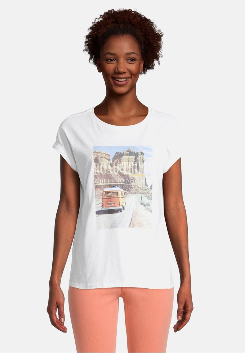 Cartoon - Print T-shirt - white/nature