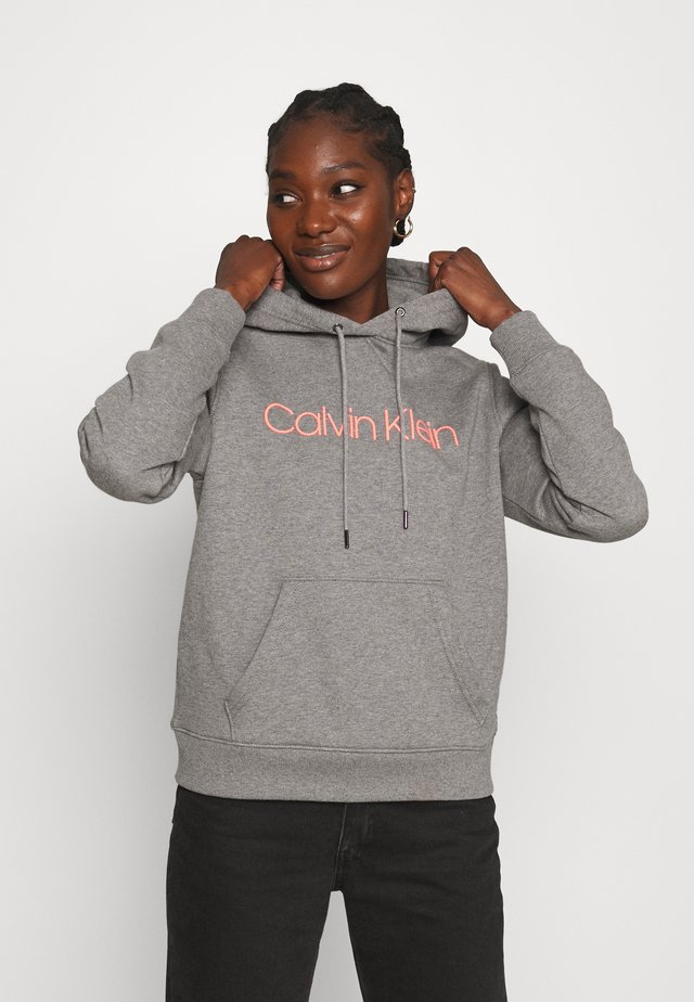 CORE LOGO HOODIE - Sweatshirt - mid grey heather