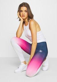 SIKSILK - FADE TAPE - Leggings - Trousers - navy/pink/white - 1