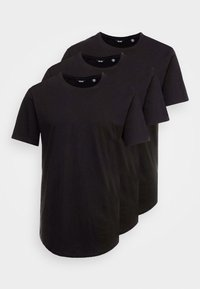 ONSMATT LONGY TEE 3 PACK - Basic T-shirt - black