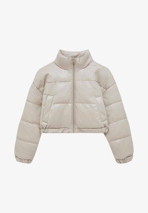 Down jacket - mottled beige