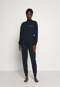 Emporio Armani - JACKET AND PANTS WITH CUFFS SET - Pyjama set - blu navy - 0