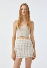 PULL&BEAR - Mini skirt - sand - 4