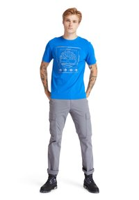 Timberland - KENNEBEC RIVER PUFF EFFECT GRAPHIC - T-shirt med print - nautical blue - 1