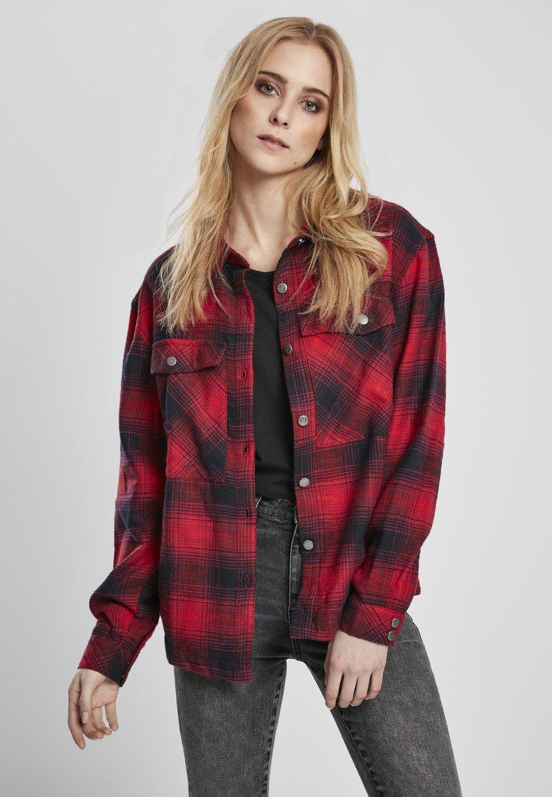 Urban Classics - Button-down blouse - darkblue/red