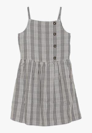 ASSYM BUTTON THRU DRESS - Denní šaty - white/black