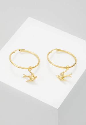 SWALLOW HOOP EARRING - Øreringe - gold-coloured