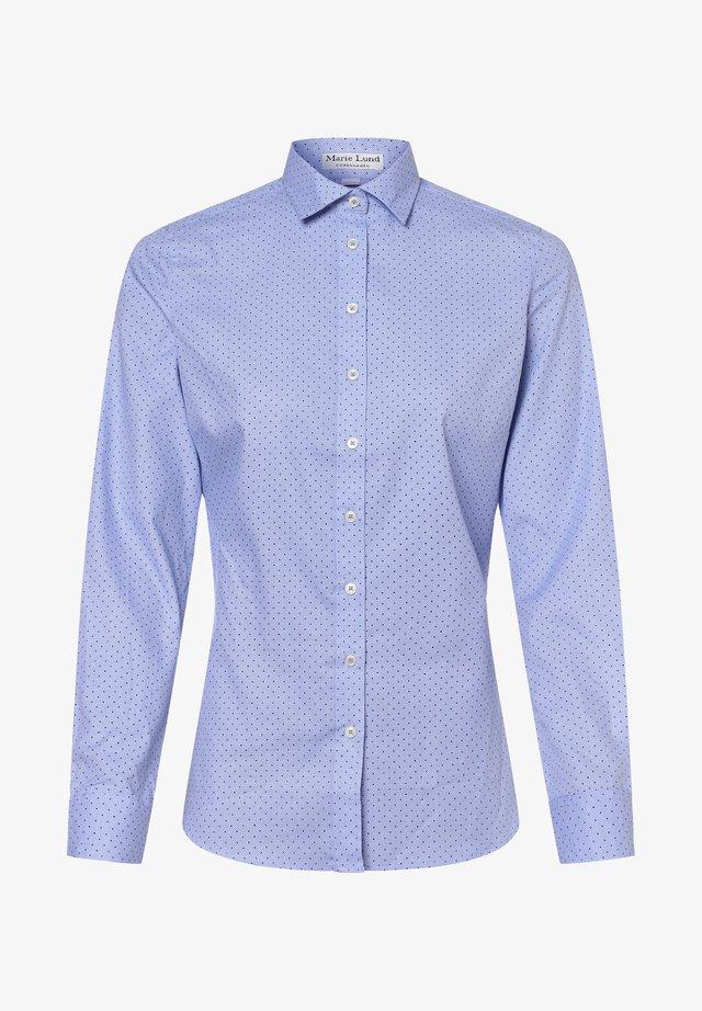 Button-down blouse - hellblau marine