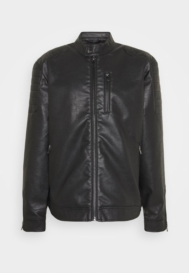 ROCKY JACKET - Faux leather jacket - black
