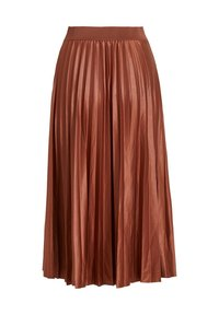 Vila - A-lijn rok - tobacco brown - 1