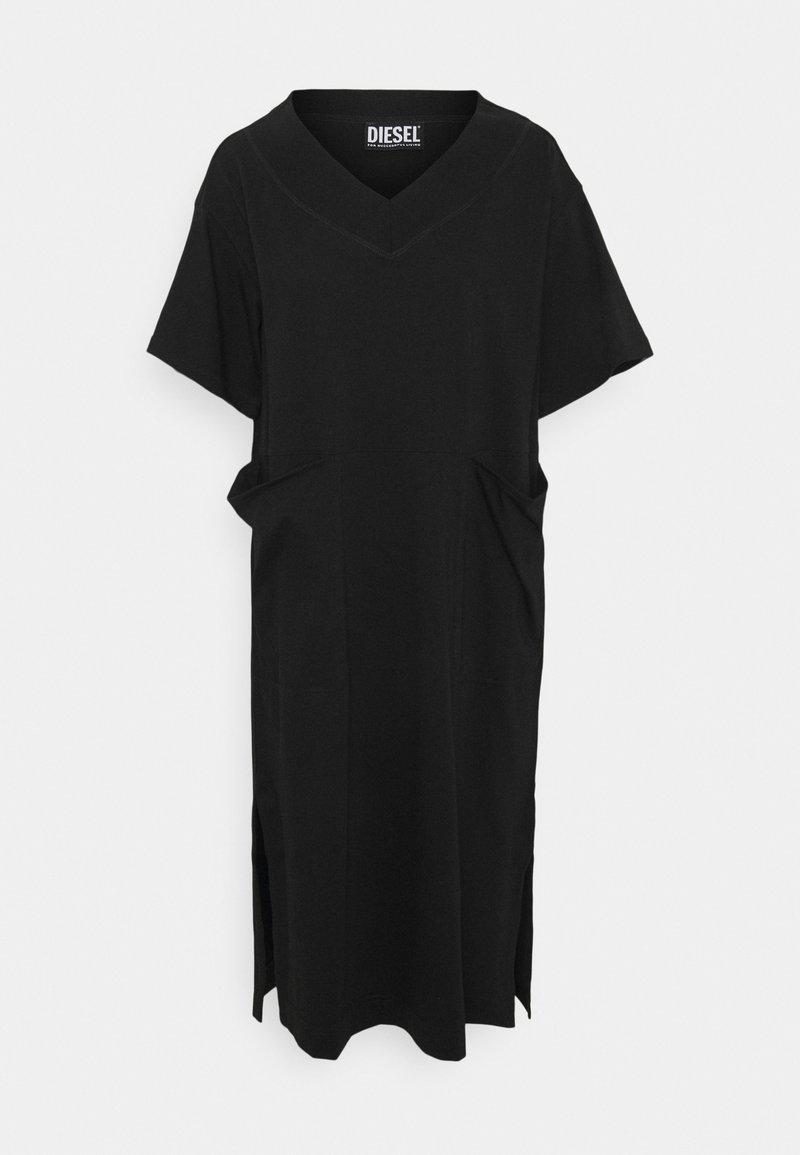 Diesel - WORKIE - Jersey dress - schwarz