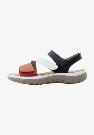 Walking sandals - red-white-pacific