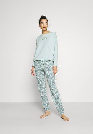 DAILY OPTIMISTE LONG  SET - Pyjama - mont blue