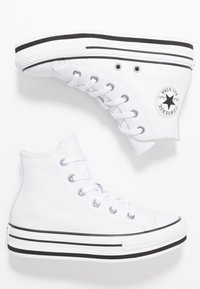 Converse - CHUCK TAYLOR ALL STAR PLATFORM - High-top trainers - white/black - 0