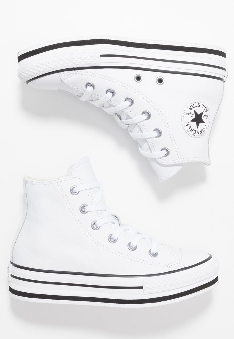 Converse - CHUCK TAYLOR ALL STAR PLATFORM - High-top trainers - white/black