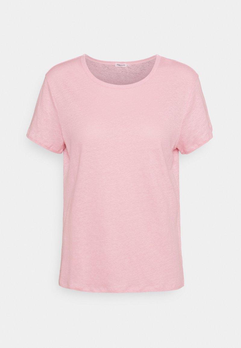 Filippa K - HAZEL TEE - Jednoduché triko - pink candy