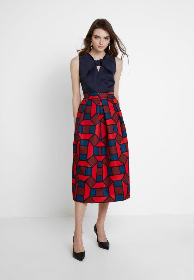 2 IN 1 FULL SKIRT DRESS - Day dress - red