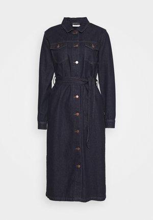 BRIT DRESS - Denim dress - dark blue denim