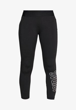 ALPHA SKIN 7/8 - Leggings - black/white