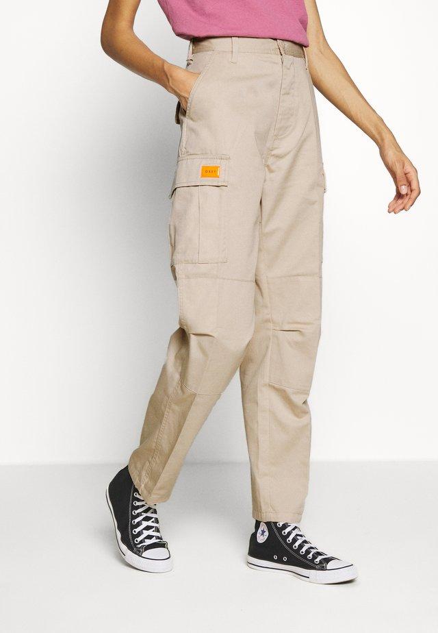 COMBAT - Trousers - beige