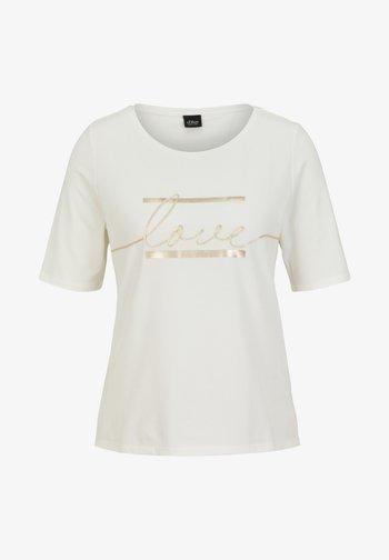 MIT STATEMENT-PRINT - Print T-shirt - soft white love print
