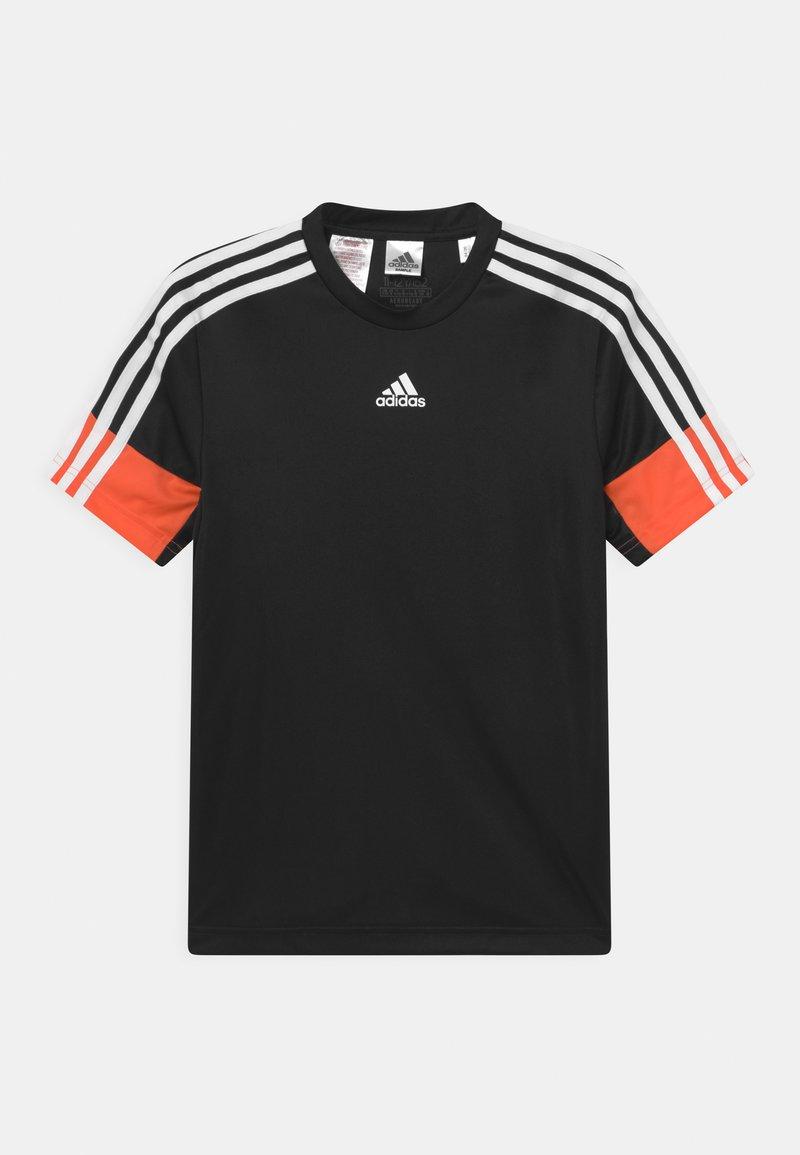 adidas Performance - T-Shirt print - black/orange