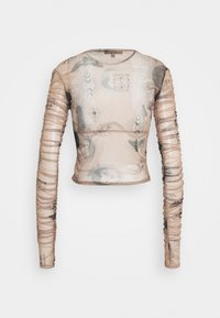 Missguided - KXMG ALL OVER PRINT TOP - Maglietta a manica lunga - tobacco - 1