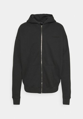 Mikina na zip - washed black