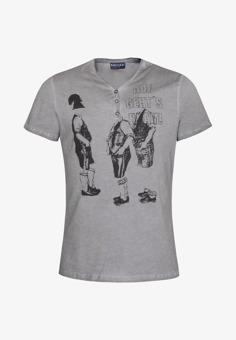 Krüger Dirndl - Print T-shirt - grau