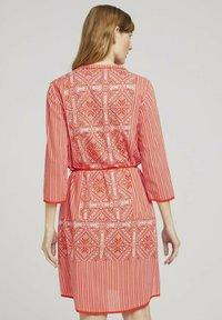 TOM TAILOR - Day dress - red white ethno design - 2