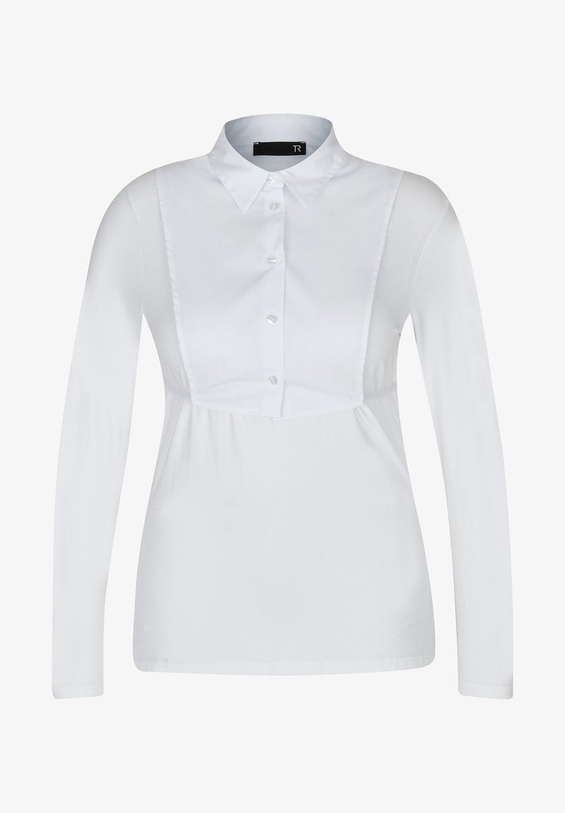 TR - MIT UNIFARBENEM STOFF UND KNöPFEN - Blouse - white